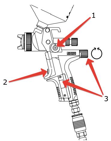 Если пистолет оборудован встроенным манометром