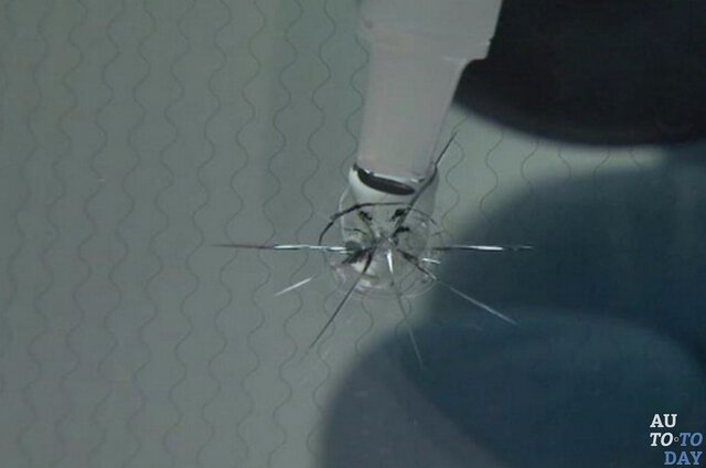 ремонт трещин на лобовом стекле